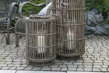 Лампион круглый EMILION ⌀30см x выс. 50см серый
