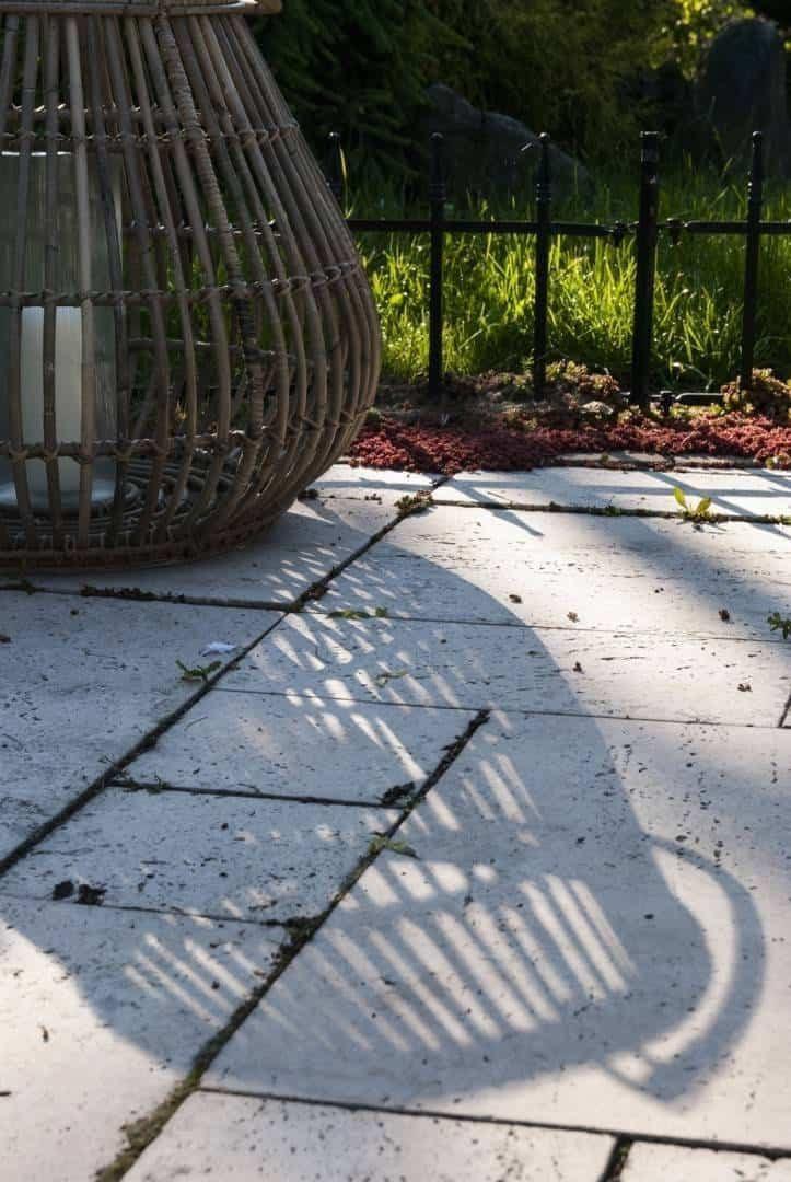 Лампион круглый CAEN ⌀54см x выс. 48см серый