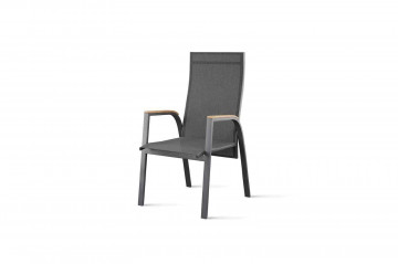 Садовый стул ALICANTE teak - STONE&WOOD антрацит