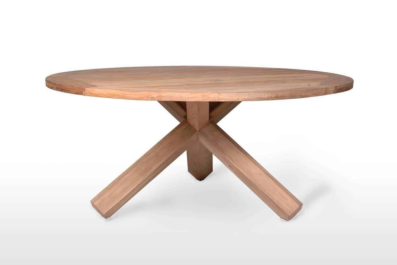 Садовый стол из тика BORDEAUX Ø135 см