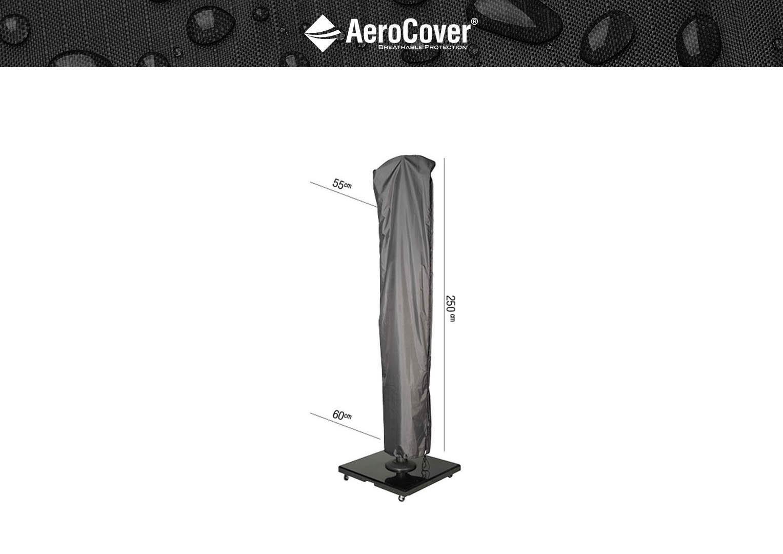 Чехол на садовый зонт с боковой ножкой 250x60 см