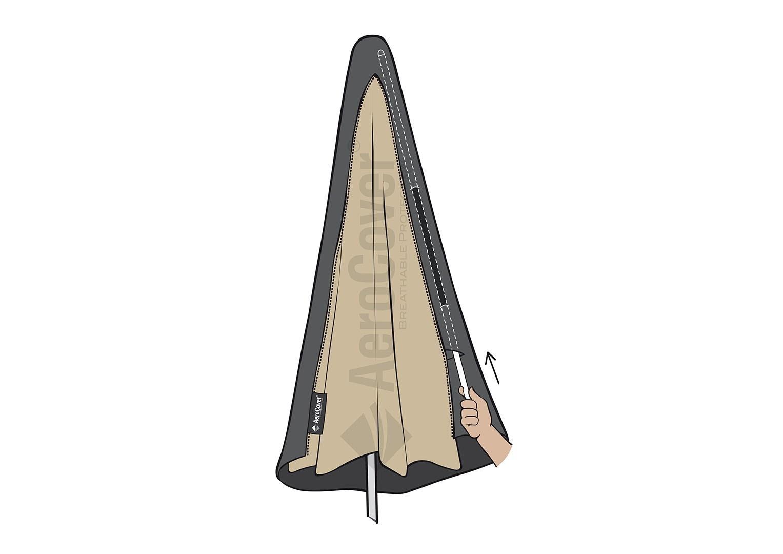 Чехол на садовый зонт с центральной ножкой 165x25/35 см