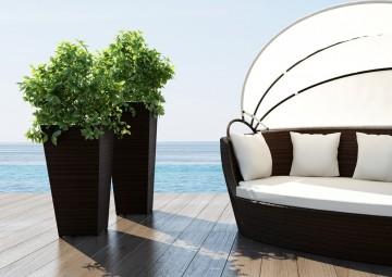 Цветочные кашпо для балкона SCALEO Modern бронза