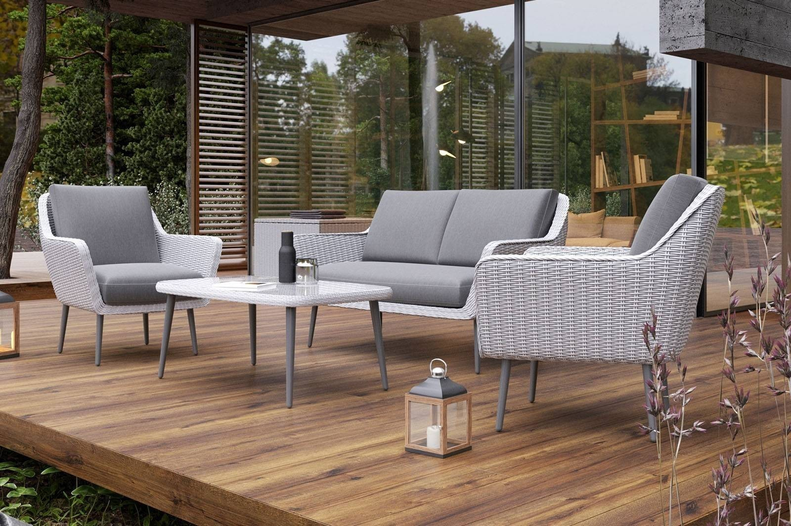 Комплект садовой мебели MONZA белый