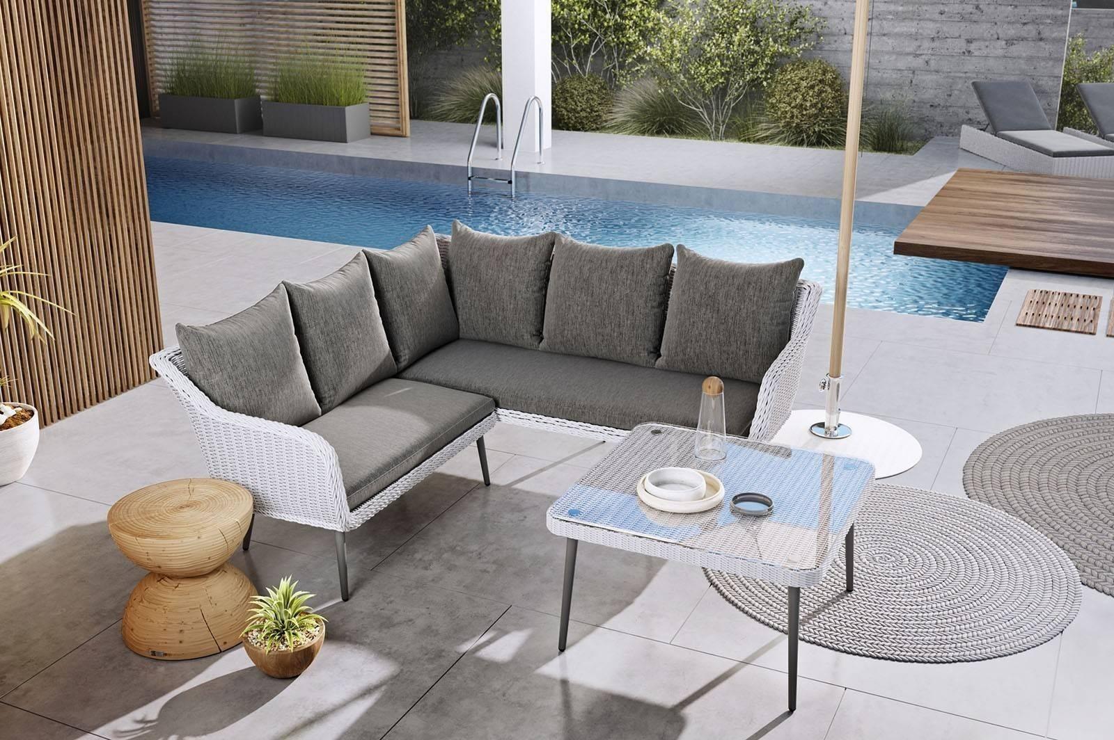 Комплект садовой мебели IMOLA белый