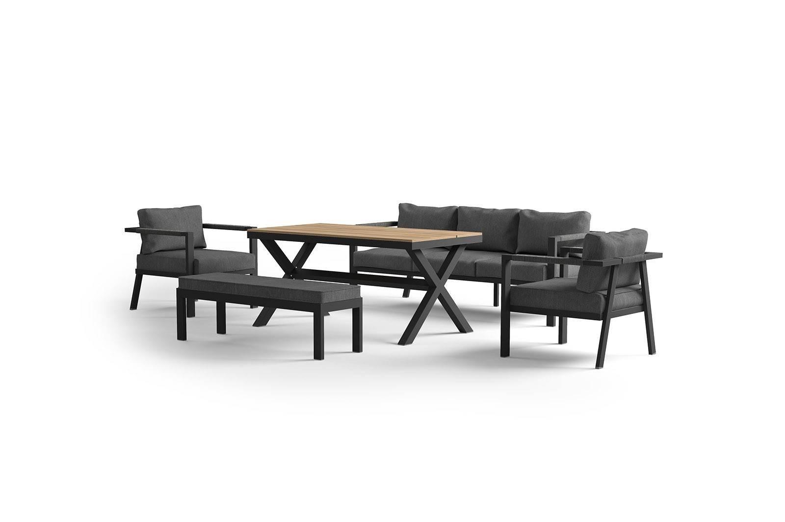 Комплект садовой мебели GRADO antracite