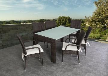Садовый стол PRATO 160 cm Royal серый