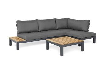 Комплект садовой мебели VITA I правый антрацит