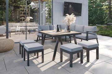 Комплект садовой мебели GRADO II антрацит