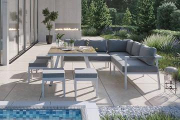 Комплект садовой мебели GRADO II белый