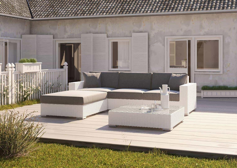 Столик / пуф MILANO (со стеклом и подушкой) белый