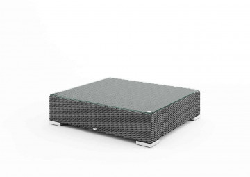 Столик / пуф MILANO (со стеклом и подушкой) серый