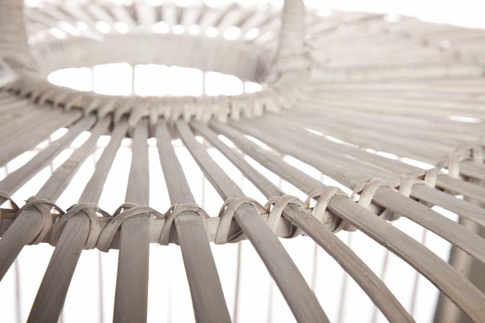 Лампа из бамбука TOULOUSE ⌀41см x выс. 47см белая потертая