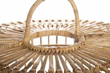 Лампа из бамбука TOULOUSE ⌀54см x выс. 54см серая