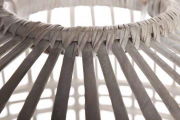 Лампа из бамбука TOULOUSE ⌀54см x выс. 54см белая потертая