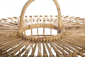 Лампа из бамбука TOULOUSE ⌀96см x выс. 72см серая