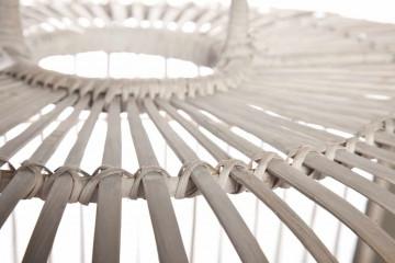 Лампа из бамбука TOULOUSE ⌀96см x выс. 72см белая потертая