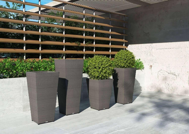 Вазон садовый SCALEO 80 см серый